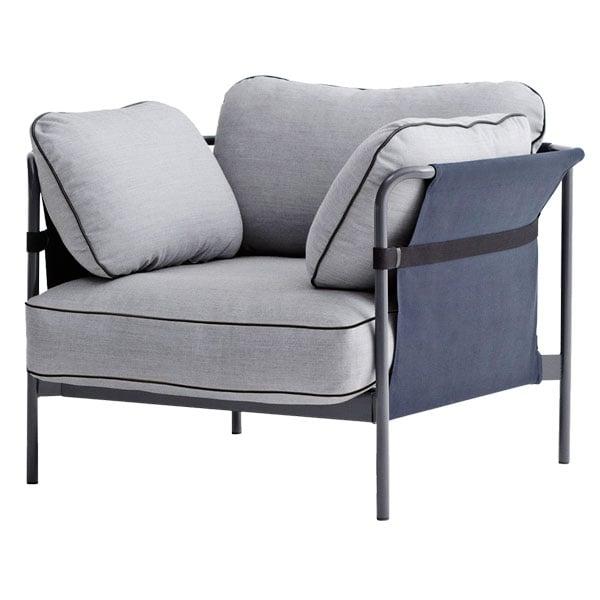 Hay Can nojatuoli, harmaa-sininen runko, Surface 120
