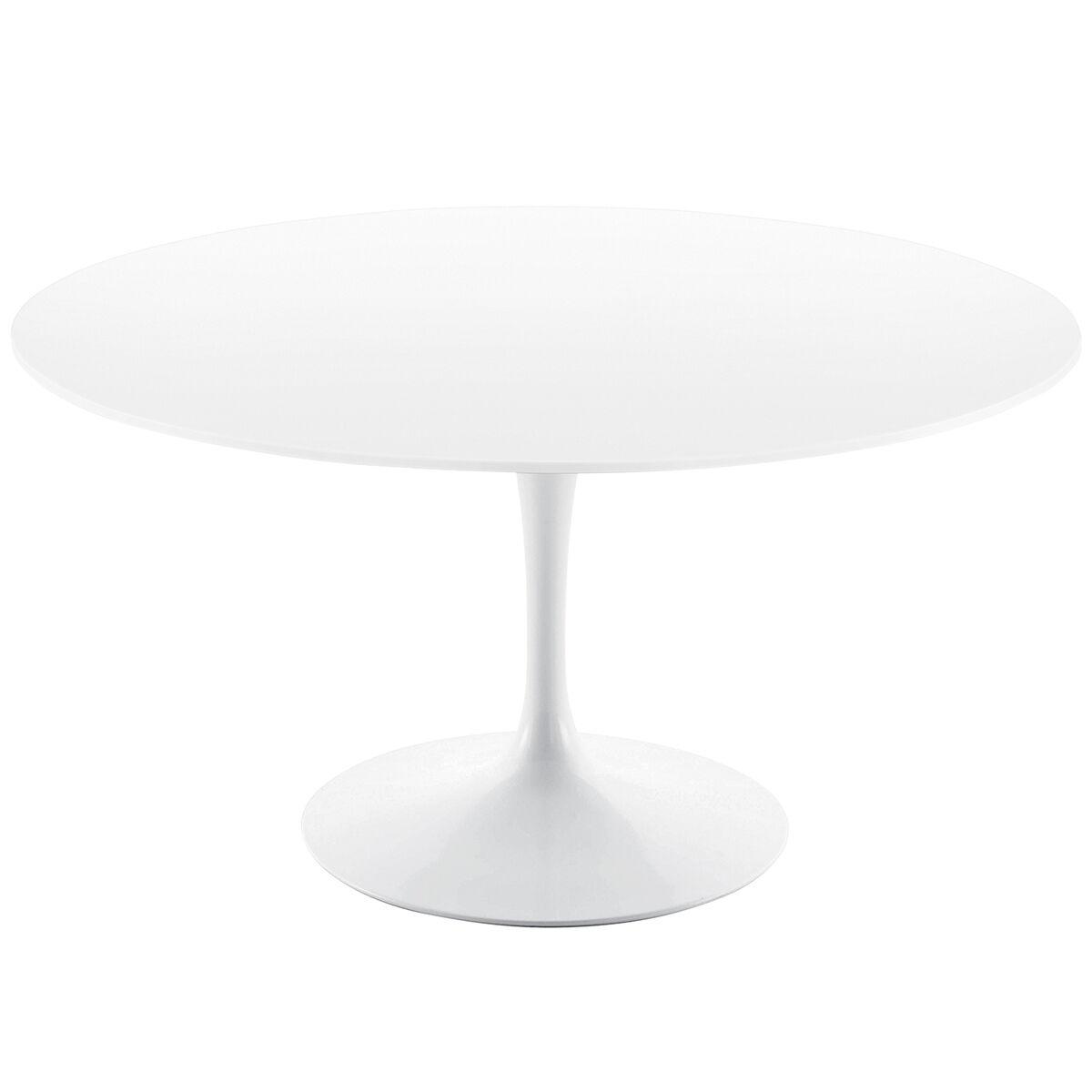 Knoll Tulppaani ruokapöytä 120 cm, valkoinen laminaatti