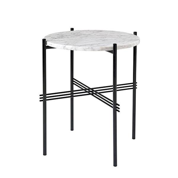 Gubi TS sohvapöytä, 40 cm, musta - valkoinen marmori