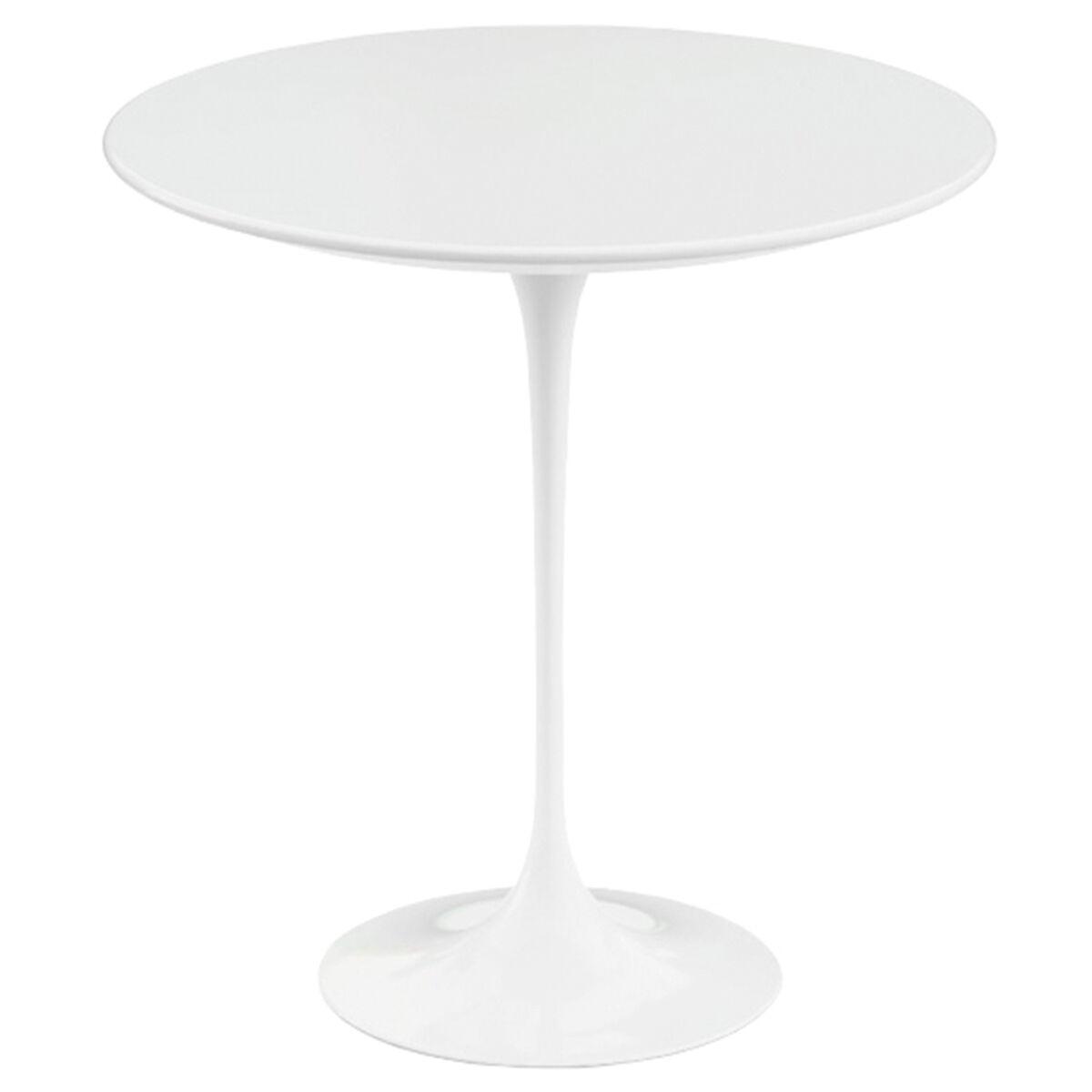Knoll Tulppaani sivupöytä 51 cm, valkoinen laminaatti