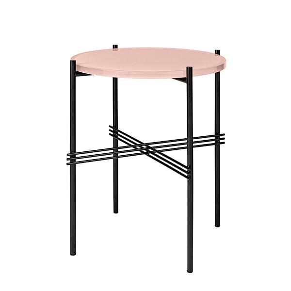 Gubi TS sohvapöytä, 40 cm, musta - pinkki lasi
