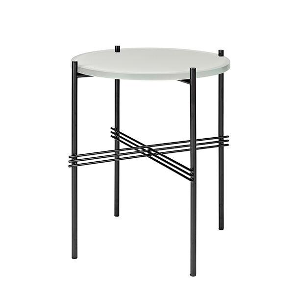 Gubi TS sohvapöytä, 40 cm, musta - valkoinen lasi