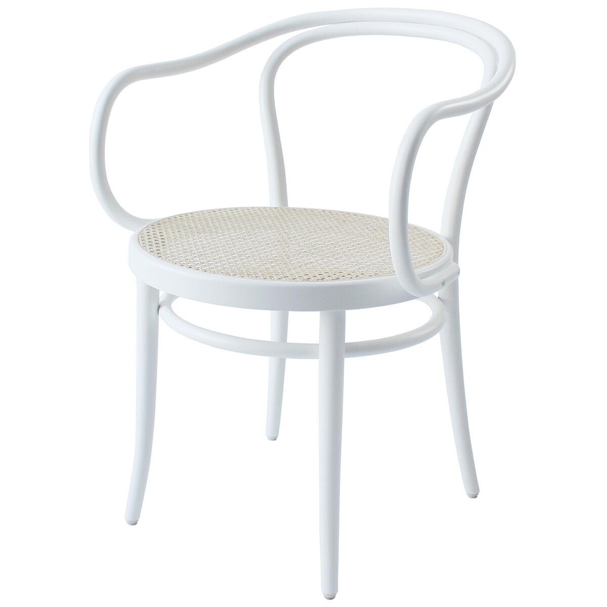 TON Armchair 30 tuoli, rottinki - valkoinen