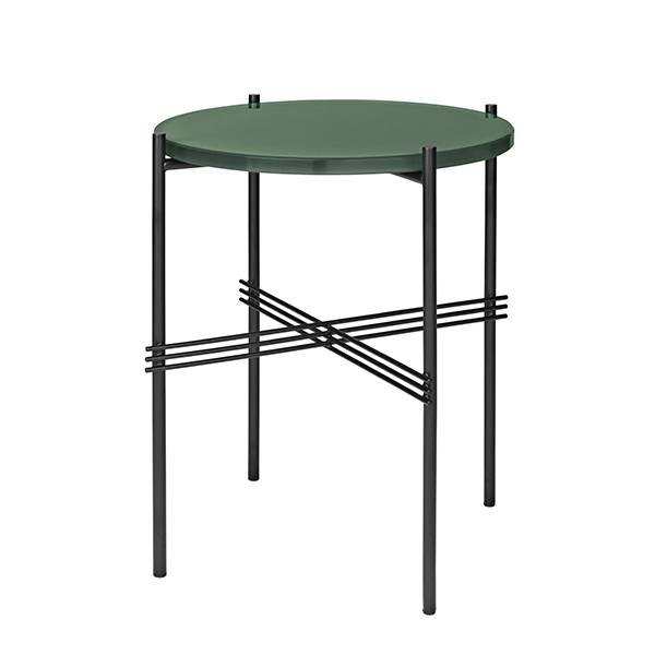 Gubi TS sohvapöytä, 40 cm, musta - vihreä lasi