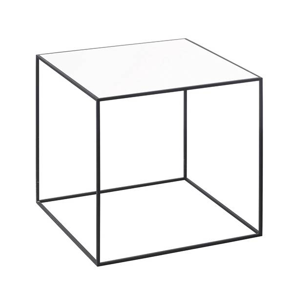 By Lassen Twin 35 sohvapöytä musta, valkoinen/tammi