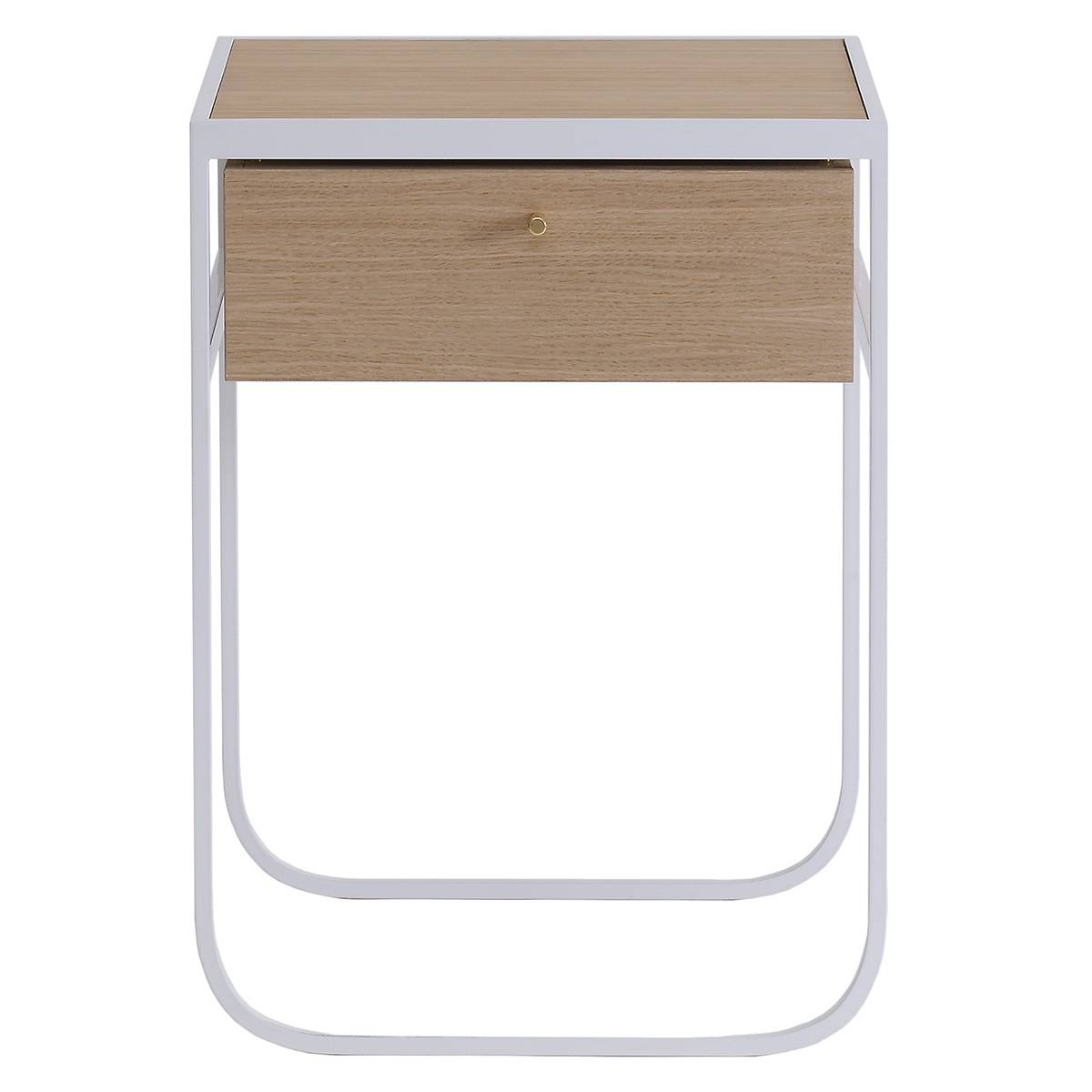 Asplund Nati Tati yöpöytä, valkopetsattu tammi - valkoinen