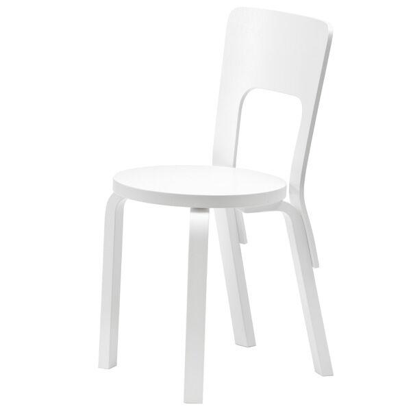 Artek Aalto tuoli 66, maalattu valkoinen