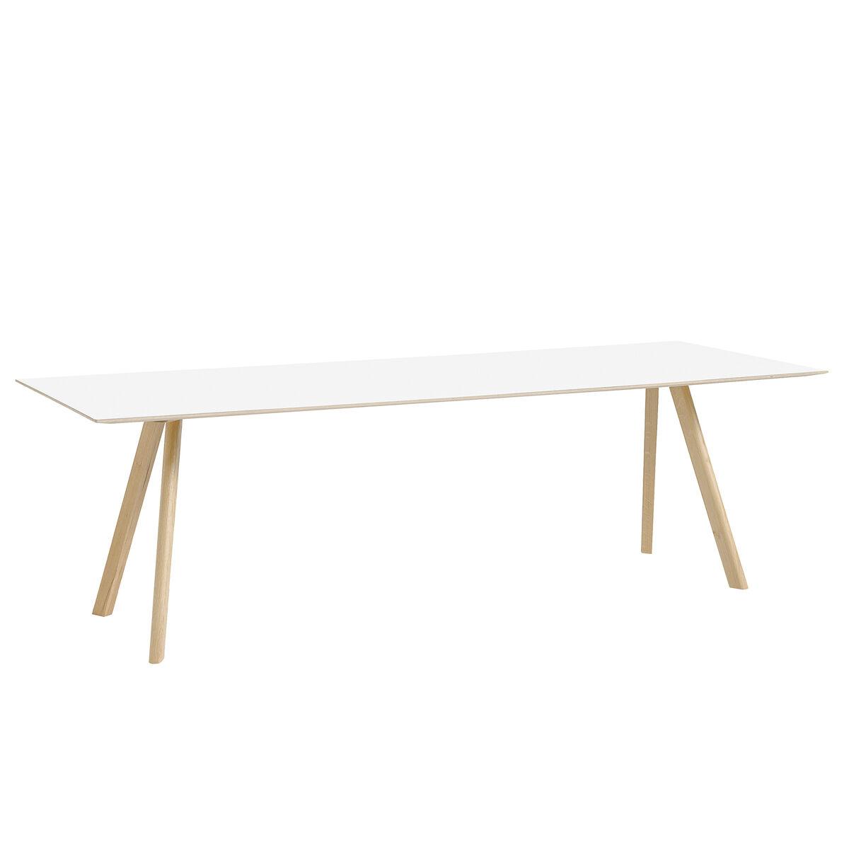 Hay CPH30 pöytä 250x90 cm, mattalakattu tammi - valkoinen laminaatti