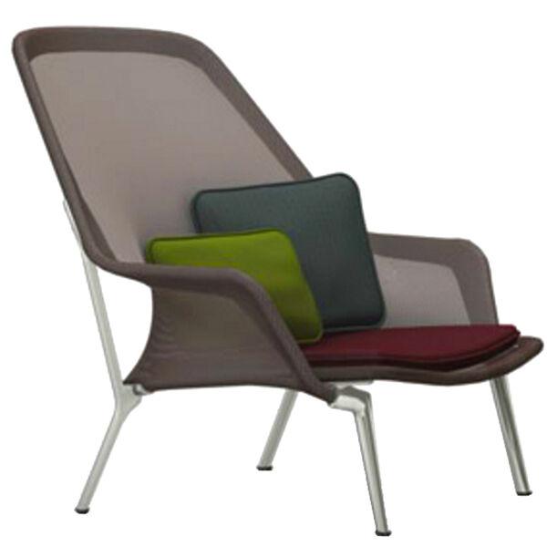 Vitra Slow Chair, ruskea - alumiini