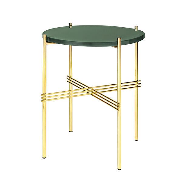 Gubi TS sohvapöytä, 40 cm, messinki - vihreä lasi
