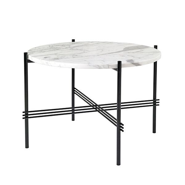 Gubi TS sohvapöytä, 55 cm, musta - valkoinen marmori