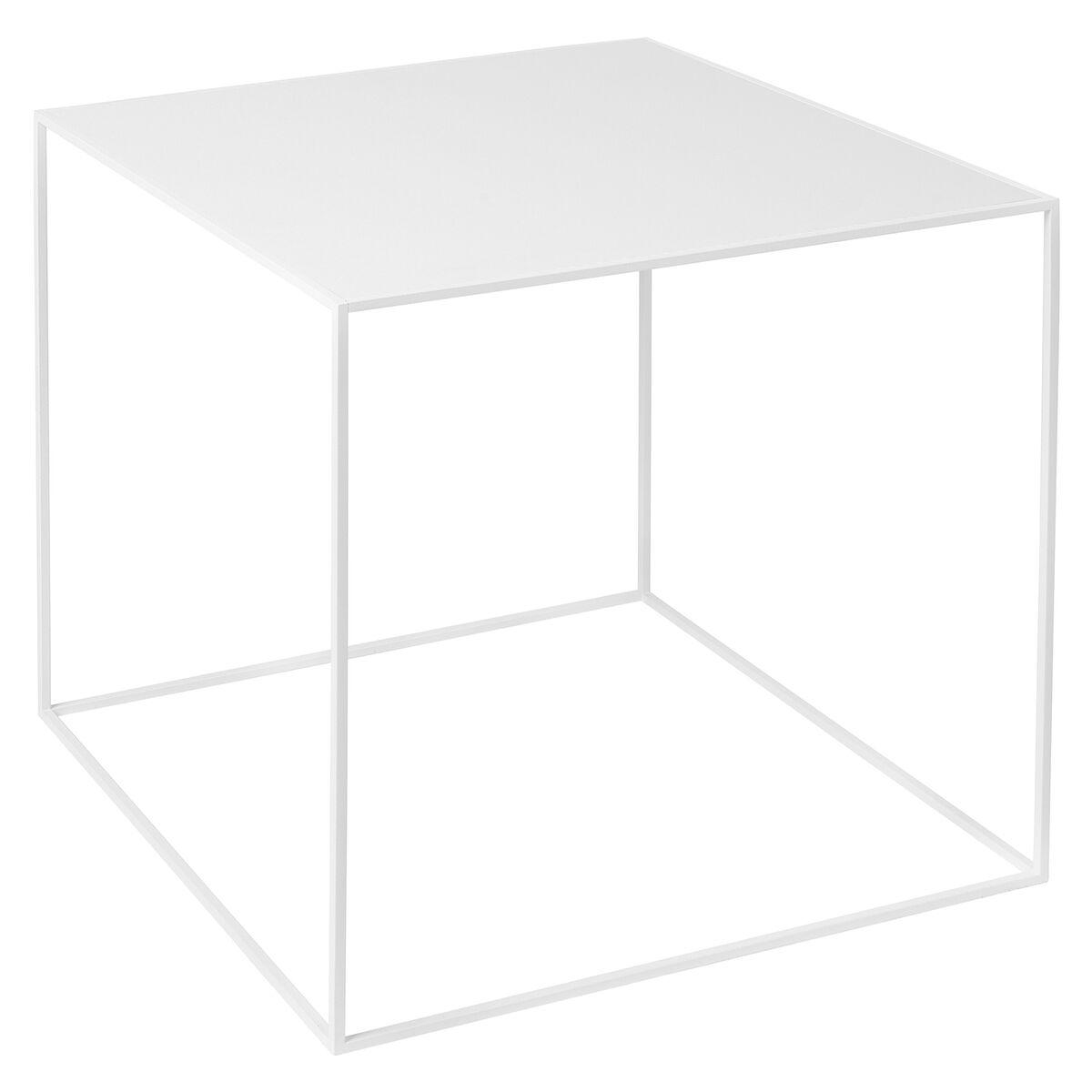 By Lassen Twin 42 sohvapöytä valkoinen, valkoinen/tammi