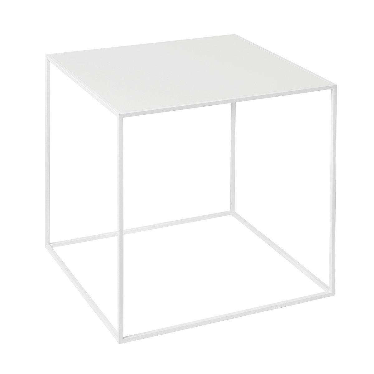 By Lassen Twin 35 sohvapöytä valkoinen, valkoinen/tammi