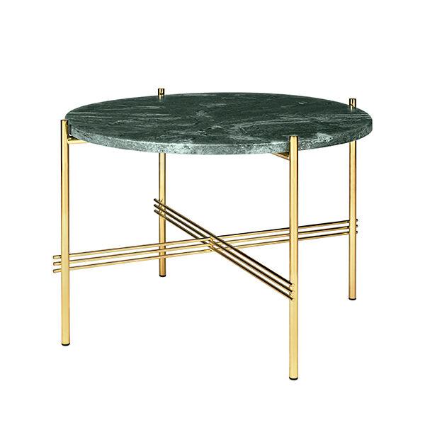 Gubi TS sohvapöytä, 55 cm, messinki - vihreä marmori