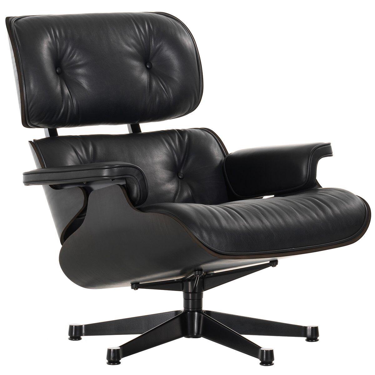 Vitra Eames Lounge Chair, classic koko, musta saarni - musta nahka