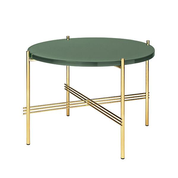 Gubi TS sohvapöytä, 55 cm, messinki - vihreä lasi