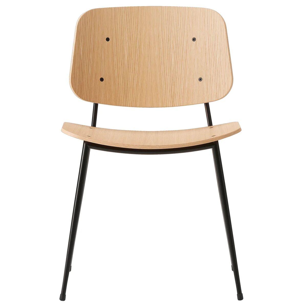 Fredericia S�borg tuoli 3060, musta ter�srunko, lakattu tammi