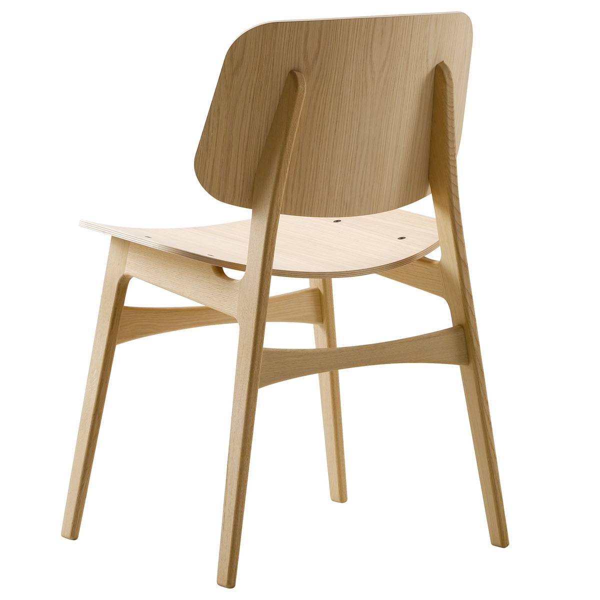 Fredericia S�borg tuoli 3050, puurunko, lakattu tammi
