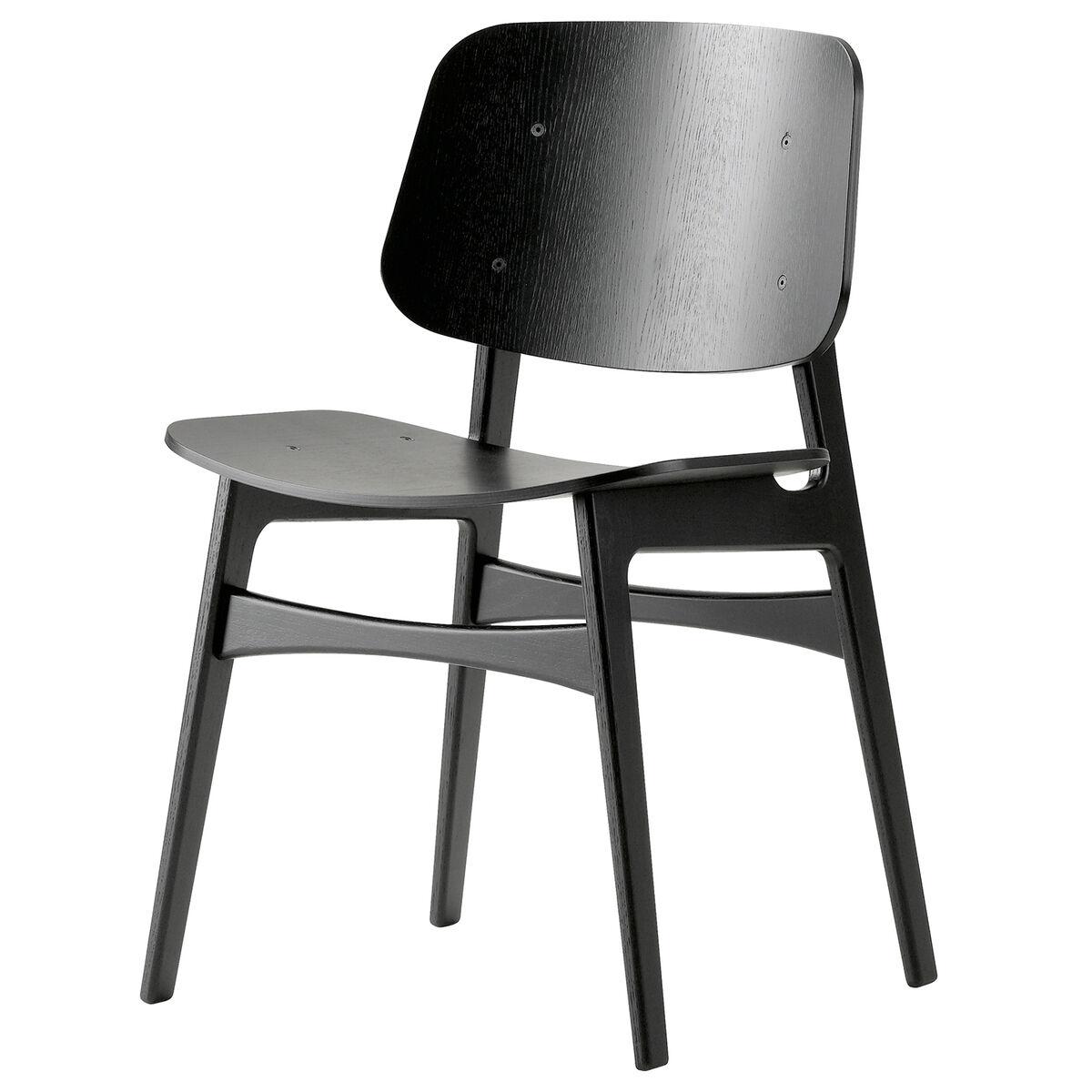 Fredericia S�borg tuoli 3050, puurunko, musta tammi