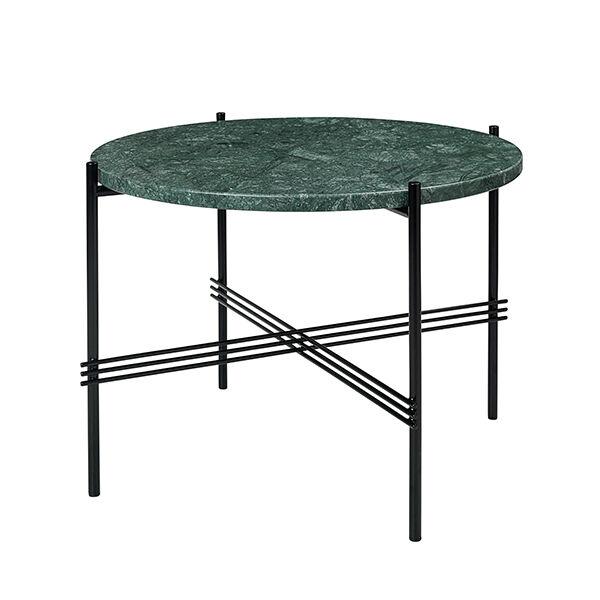 Gubi TS sohvapöytä, 55 cm, musta - vihreä marmori