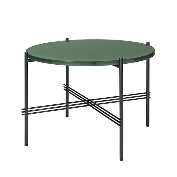 Gubi TS sohvapöytä, 55 cm, musta - vihreä lasi