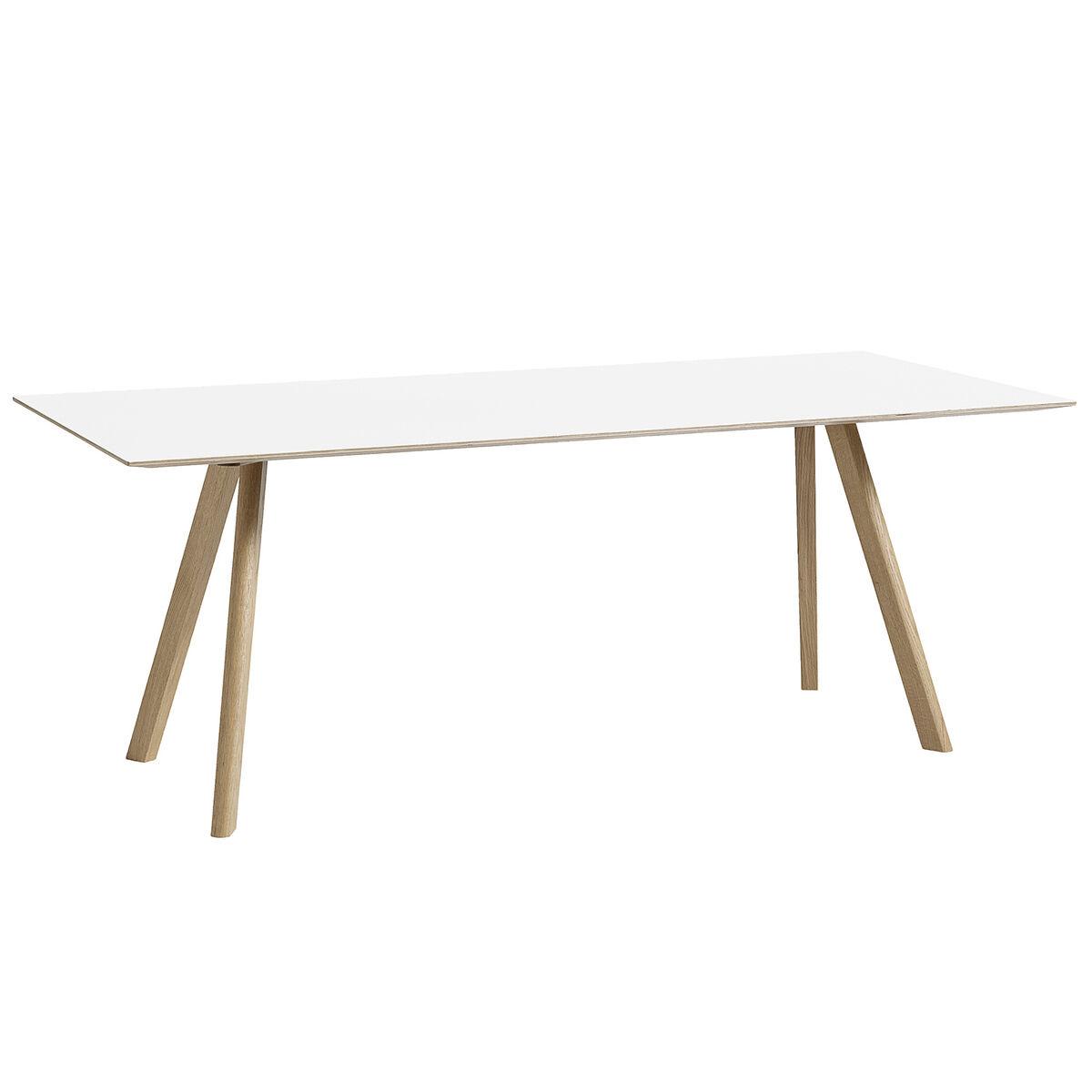 Hay CPH30 pöytä 200x90 cm, saippuoitu tammi - valkoinen laminaatti