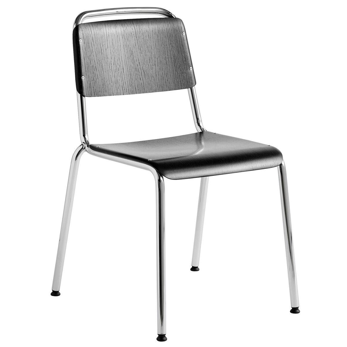 Hay Halftime tuoli, kromi - mustaksi petsattu tammi