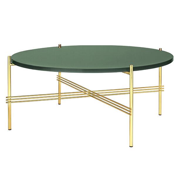 Gubi TS sohvapöytä, 80 cm, messinki - vihreä lasi