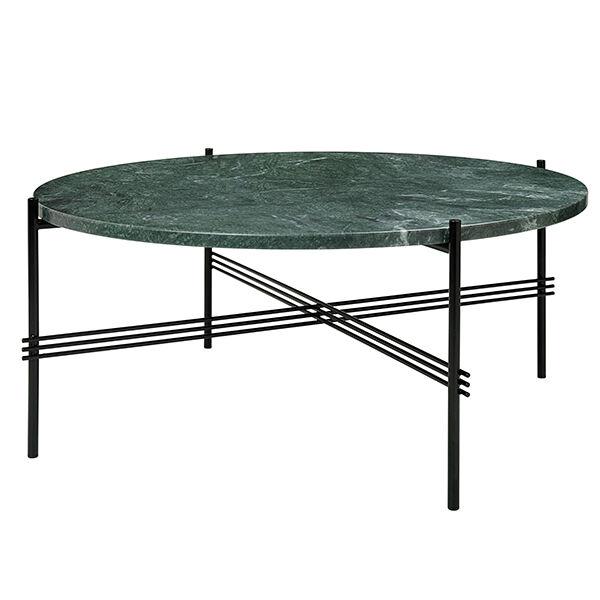 Gubi TS sohvapöytä, 80 cm, musta - vihreä marmori