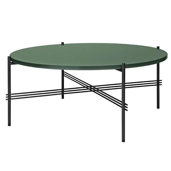 Gubi TS sohvapöytä, 80 cm, musta - vihreä lasi