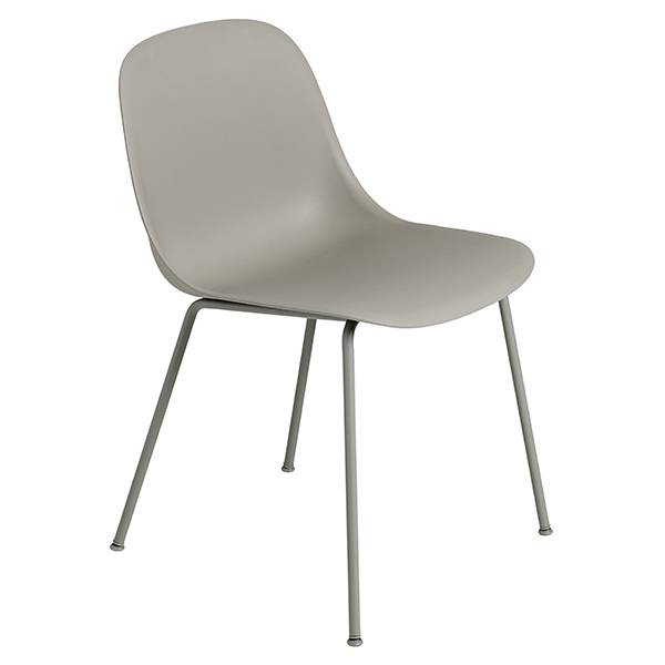 Muuto Fiber ruokapöydän tuoli, putkijalat, harmaa