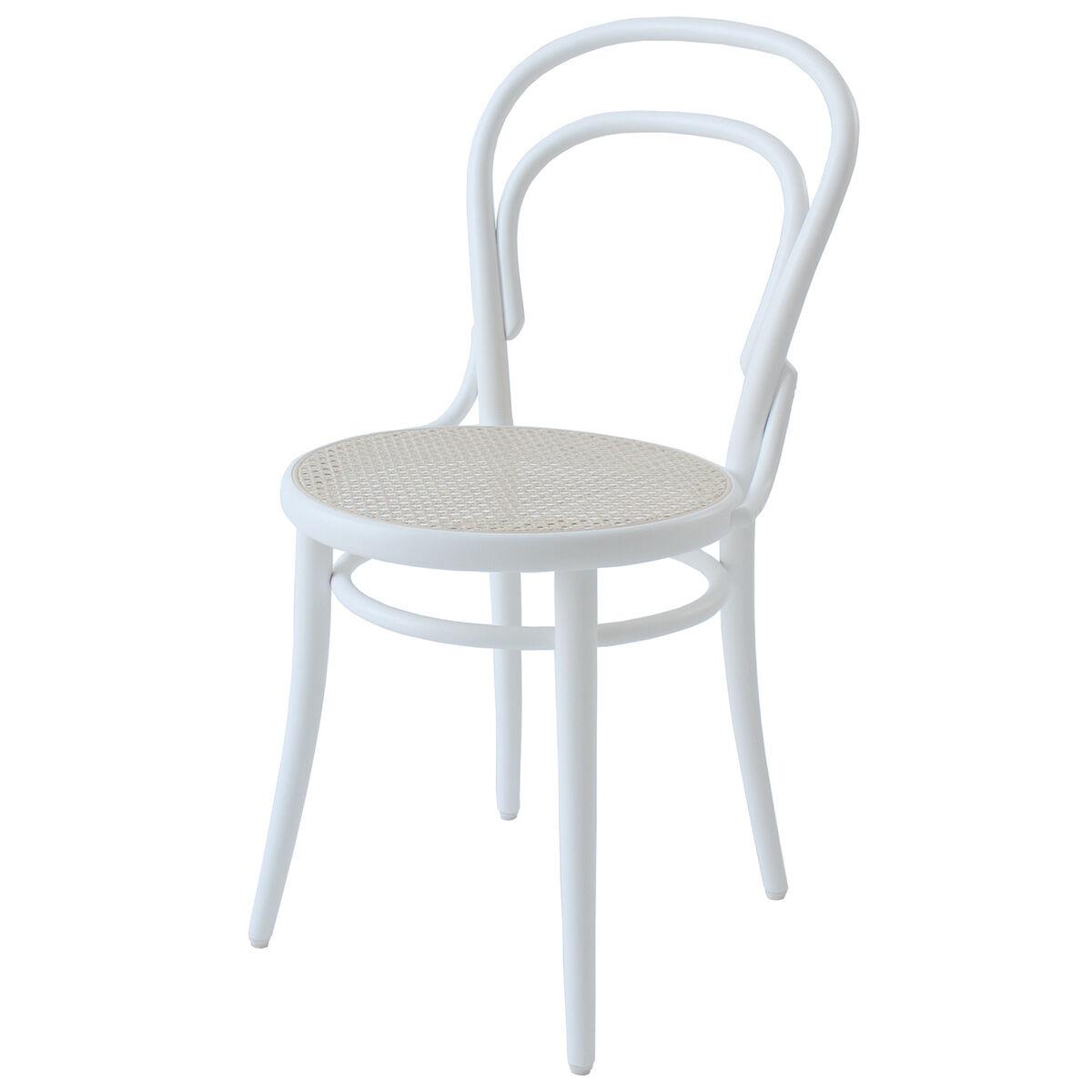 TON Chair 14 tuoli, rottinki - valkoinen