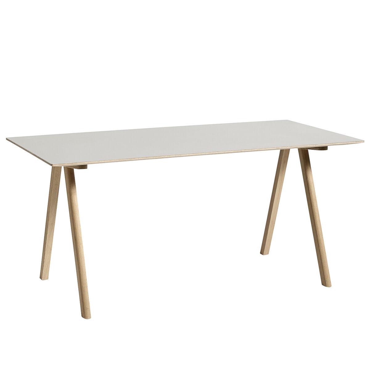 Image of Hay CPH10 pöytä 160x80 cm, mattalakattu tammi - luonnonvalk. lino