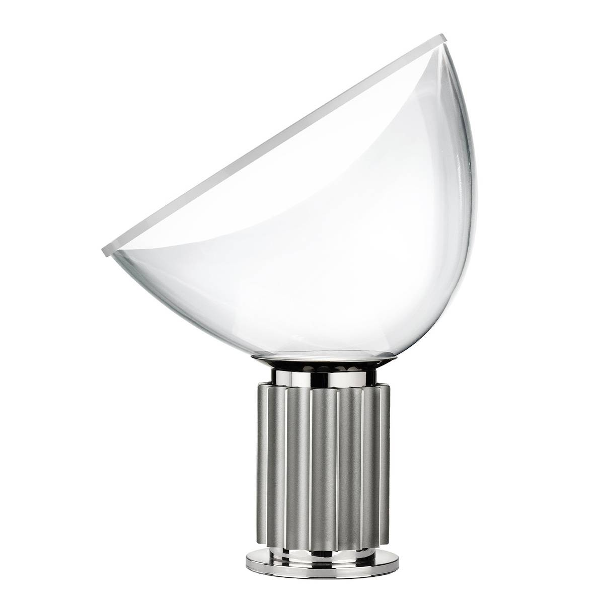 Flos Taccia pöytävalaisin, pieni, hopea