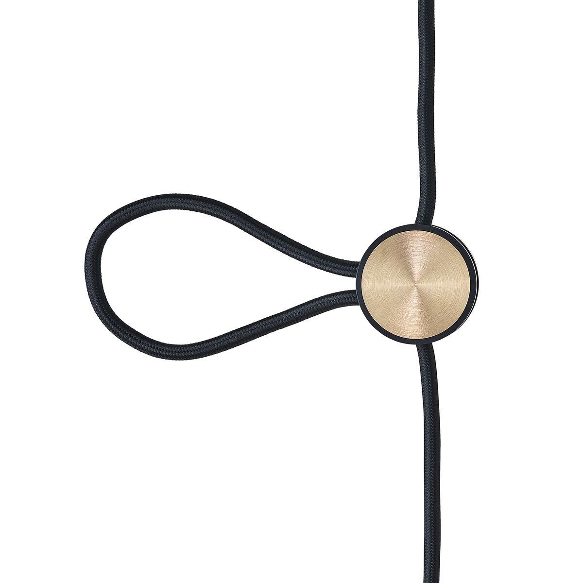 Le Klint Cord Adjuster korkeudensäädin, musta - messinki