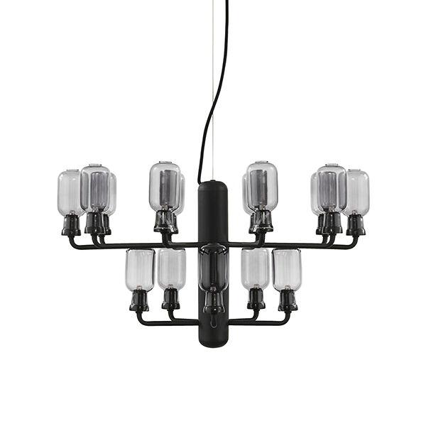 Normann Copenhagen Amp kattokruunu, pieni, savu - musta