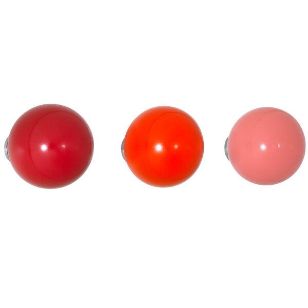 Vitra Coat Dots ripustimet, 3 kpl, punainen
