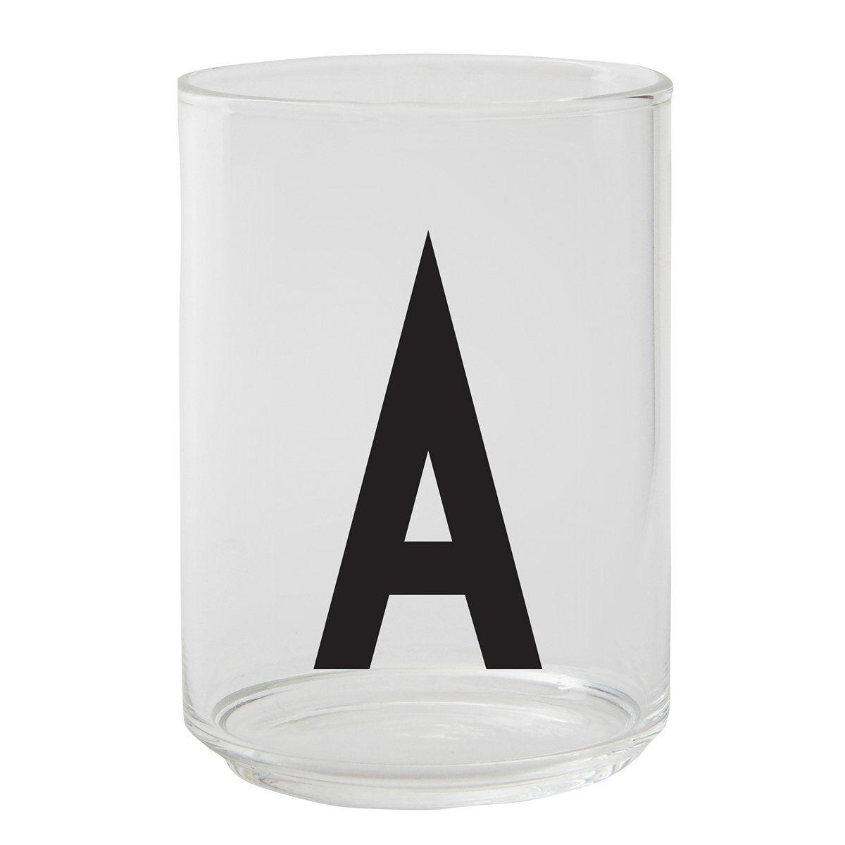 Design Letters Arne Jacobsen juomalasi, A-Z