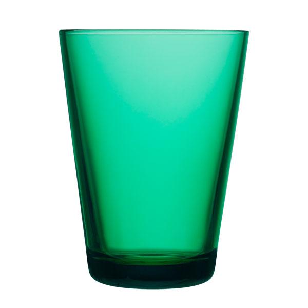 iittala Kartio juomalasi 40 cl, smaragdi, 2 kpl
