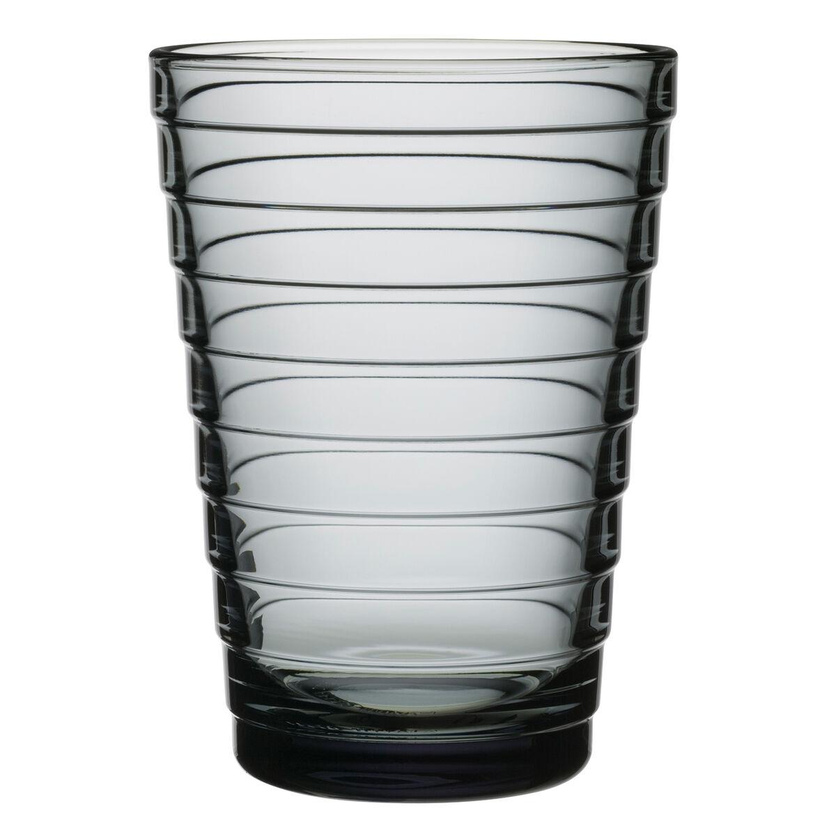 iittala Aino Aalto juomalasi 33 cl, harmaa, 2 kpl