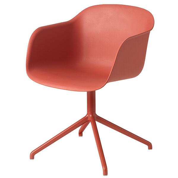 Muuto Fiber tuoli k�sinojilla, py�riv�, dusty red