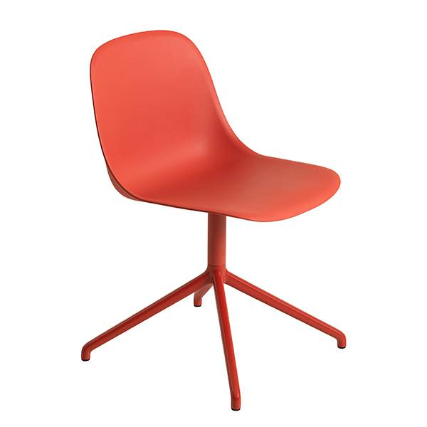 Muuto Fiber tuoli, py�riv�, dusty red