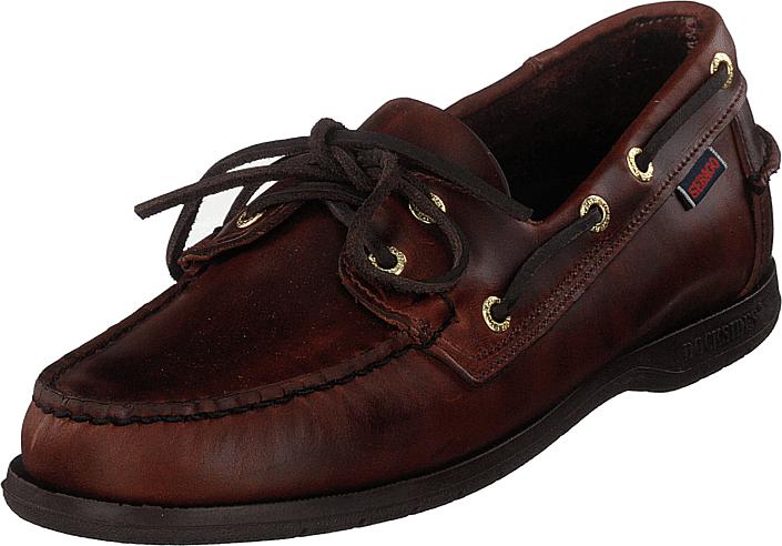 Sebago Endeavor Brown Oiled Waxy Lea, Kengät, Matalapohjaiset kengät, Purjehduskengät, Ruskea, Miehet, 46