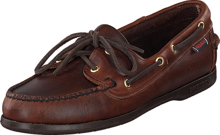 Sebago Victory Brown Oiled, Kengät, Matalapohjaiset kengät, Purjehduskengät, Ruskea, Naiset, 40