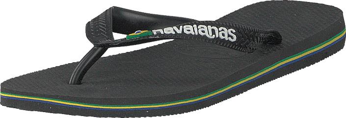 Havaianas Brasil Logo Black, Kengät, Sandaalit ja tohvelit, Flip Flopit, Musta, Unisex, 39