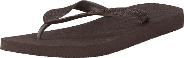 Havaianas Top Dark Brown, Kengät, Sandaalit ja tohvelit, Flip Flopit, Ruskea, Unisex, 35