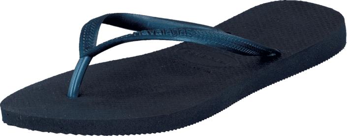 Havaianas Slim Navy Blue, Kengät, Sandaalit ja tohvelit, Flip Flopit, Sininen, Naiset, 35