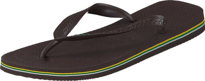 Havaianas Brasil Dark Brown, Kengät, Sandaalit ja tohvelit, Flip Flopit, Ruskea, Unisex, 35