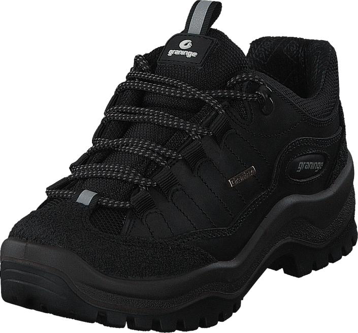 Graninge 56667 Black/Leather, Kengät, Sneakerit ja urheilukengät, Tennarit , Musta, Unisex, 37