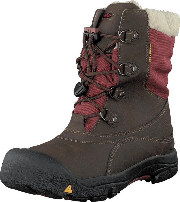 Keen Basin Wp Cascade Brown/Madder Brown, Kengät, Bootsit, Kengät, Ruskea, Harmaa, Unisex, 27